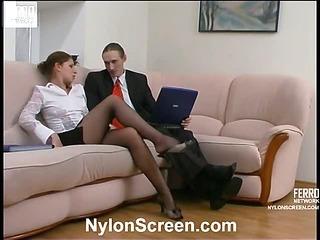 Sophia&Marcus naughty nylon video