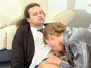 Diana&Lesley nasty hose job scene