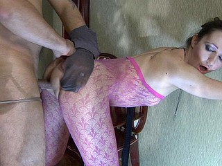 Afina&John screened whilst pantyhosefucking