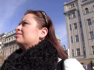 cute redhead slut being fucked between her big breasts