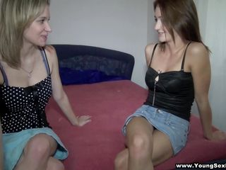 blonde mika and brunette angella ready for 4-way action!