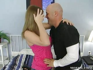 cute oklahoma getting pussy licked by bald guy