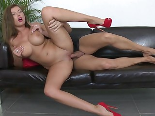 Big titted Donna Bell in casting