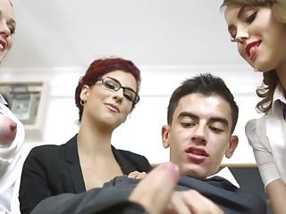 Ella Hughes & Shona River & Zoe Doll & Jordi El Ni?±o Polla in Lets Welcome The New Student - Brazzers