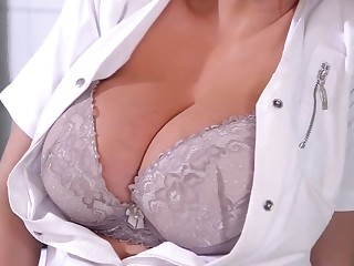 Nurse with big tits knows how to cure her patients