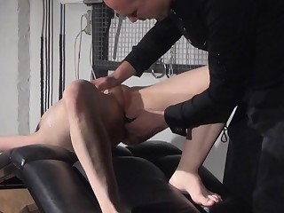 Gagged unpaid slaves sextoy domination and spanked blo