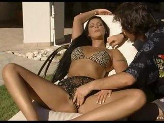 Smoking Brunette Receives A Hardcore Fuck Outdoors On A Beach Chair