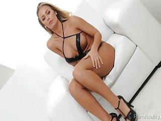 Blonde  Nicole Aniston Rides Cock