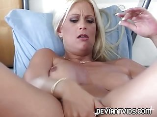 Hot whore trying dildos