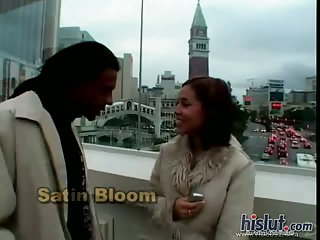 Satin Bloom gets black dong