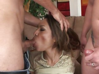 Tempting Nataly Rose gets her mouth stuffed with cock