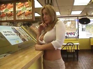 Sweetheart flashing at restaurant and gas station