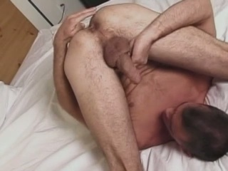 Horny fucker tries to suck his own cock