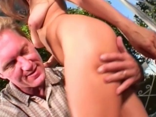 Threesome twat fucking outdoors with horny blonde bitches