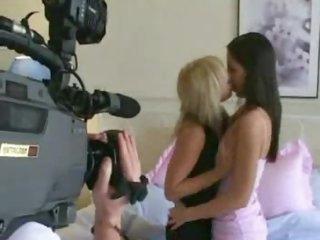Beautiful lesbian babes making sweet love