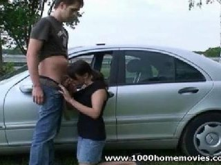 outdoor teen oral job