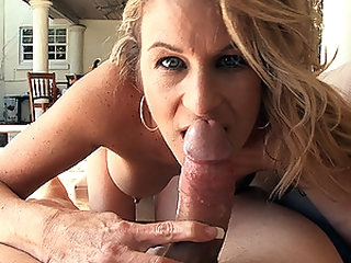 Sexy Blonde MILF Gianna Phoenix Sucks and Fucks a Big Cock Outdoors