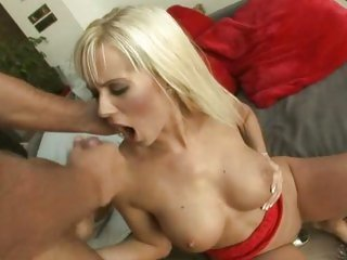 Delicious Cindy Dollar gets covered in ramrod syrup