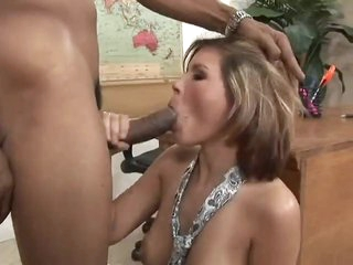 Huge black cock for the natural white beauty
