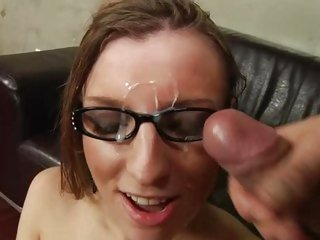 Alluring Morgan Moon gets splattered with dick milk