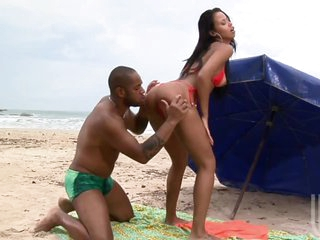 Hot Interracial Sex In The Beach With Brazilian Sweetheart Marcella Moraes