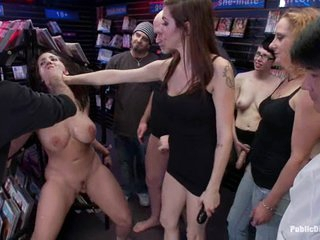 Kelly Divine is spurted with jism in a store