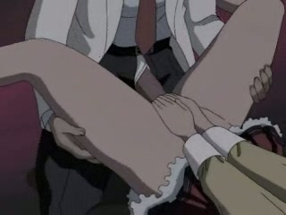 Hentai whore getting a giant cock rammed up her tiny wet hole