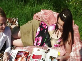 Cock stuffed picnic babe yells loudly