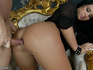 Black haired stunning beauty Bettina Dicapri gets her perfect tight ass fucked balls deep doggy style. This is a real pleasure for both of them. Very hot butt fucking session with gorgeous Bettina Dicapri!
