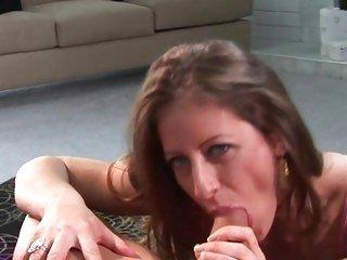Liza Harper shoves a hard dick down her throat