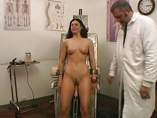 Sexy volounteer fucked by a machine