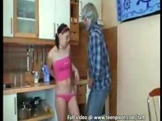 Grandpa boning a teen slut