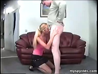 Riding the blonde student bitch