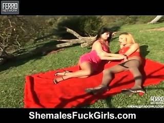 Milena&Dani tranny fucks lady movie