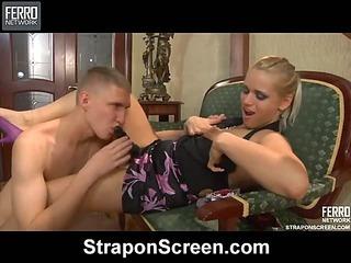 Susanna&Connor strapon sex video