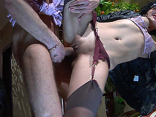 Inessa&Herbert red sexy nylon movie