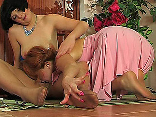 Mia&Irene concupiscent nylon feet movie scene