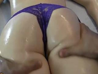 Cute massage for youthful sexy honey