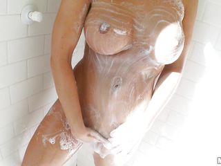 abigail mac gets soapy in the shower