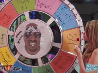 mae olsen spins the wheel, and has a great time!!!!