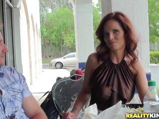 sexy milf has something hot under her panties