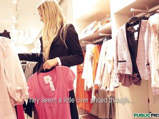 young blonde czech sunshine tries on clothes... and a proposal