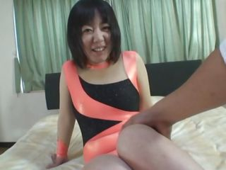japanese mature moans, groans and writhes in bed