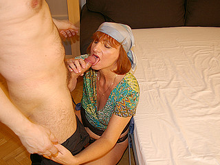 This horny housewife can't live without fucking and engulfing