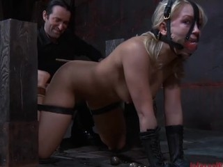 Disobedient slave chick in mouth villeinage gets fucked and tortured