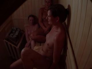 Hidden Livecam Catches three Beauties in Sauna