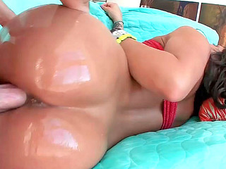 Jenaveve Jolie getting nicely banged by some lad on blue sofa