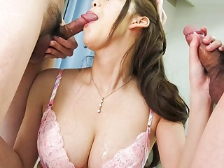 Amazing Japanese model Akari Asagiri in Hottest JAV uncensored Blowjob clip
