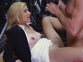 Gorgeous milf was convinced to have sex to earn extra cash