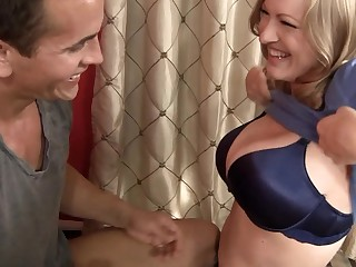 Horny milf is doing a striptease so she could have some sex